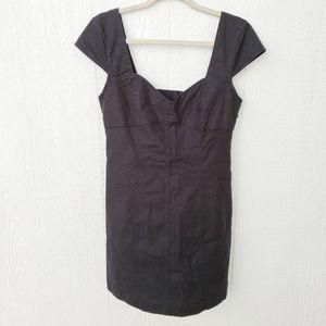 Urban Outfitters Linen Cap Sleeve LBD